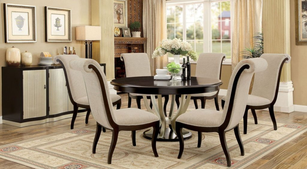 Furniture Of America Ornette Espresso Round Dining Room Set
