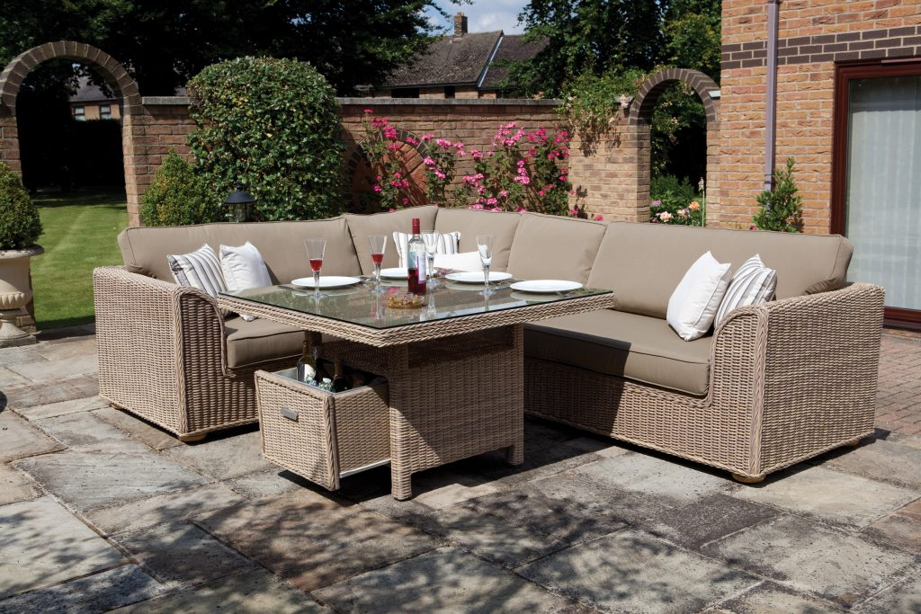 Furniture Wicker Sofa Sectional Patio Dining Set Interesting On From