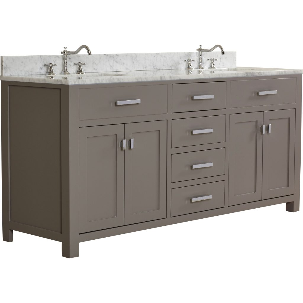 Gallery 72 Modern Bathroom Vanity72 Inch Bathroom Vanities White