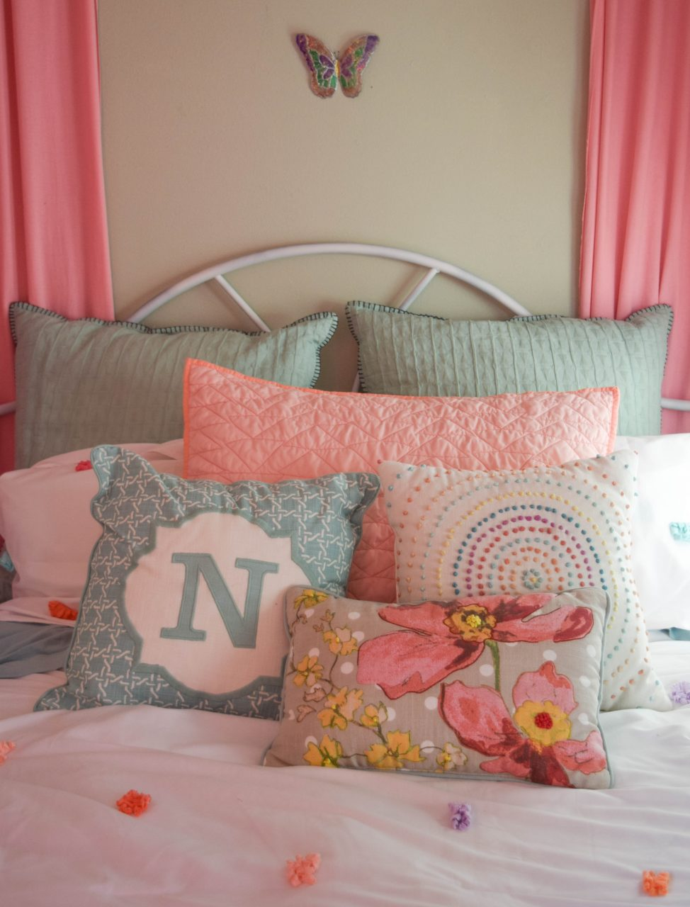 Girl Bed Throw Pillows 1 Of 1 Our House Now A Home