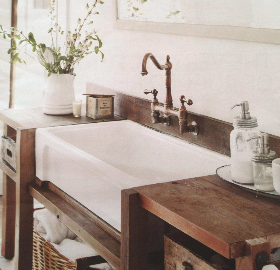 Gorgeous Farm Style Bathroom Vanity With Bathroom Sink Farmhouse