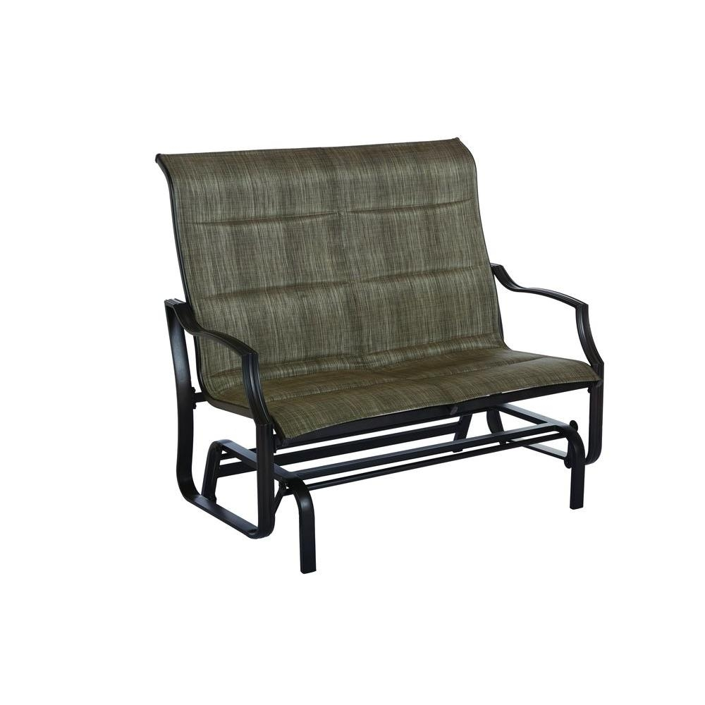 Hampton Bay Statesville Metal Patio Outdoor Double Glider Fcs70357rl