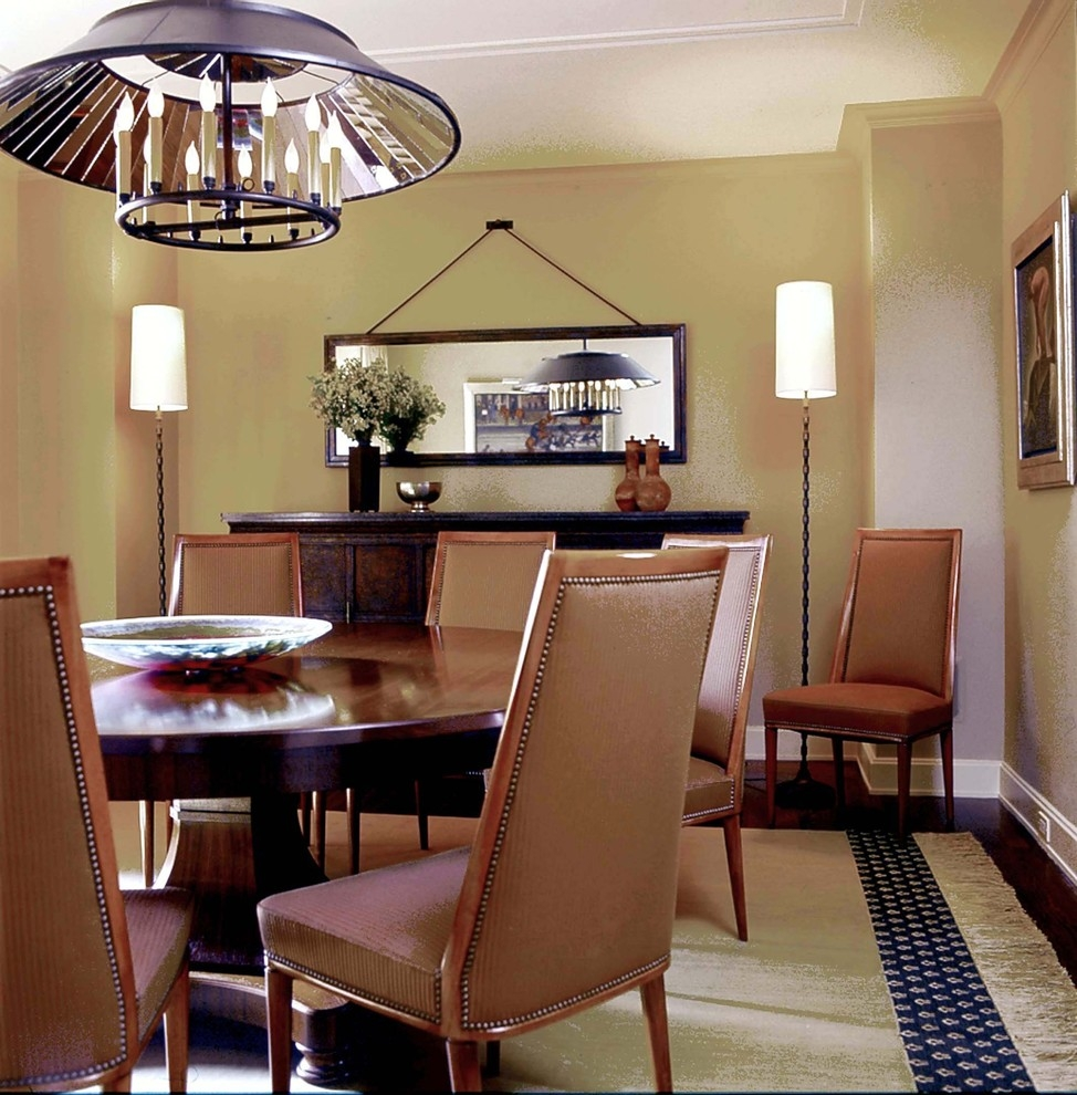 Hanging Floor Lamp Dining Room Contemporary With Circle Dark Room