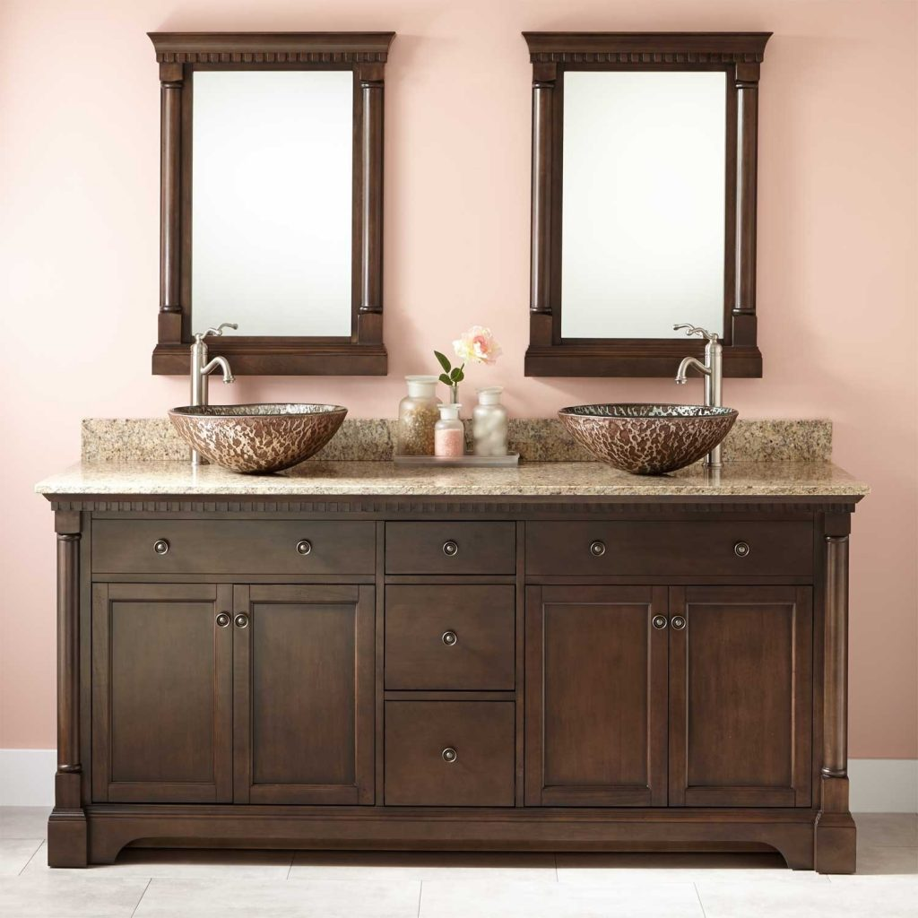 Home Decor Cool Double Sink Bathroom Vanities Perfect With Sinks