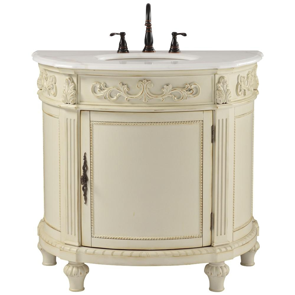 Home Decorators Collection Chelsea 37 In W Bath Vanity In Antique