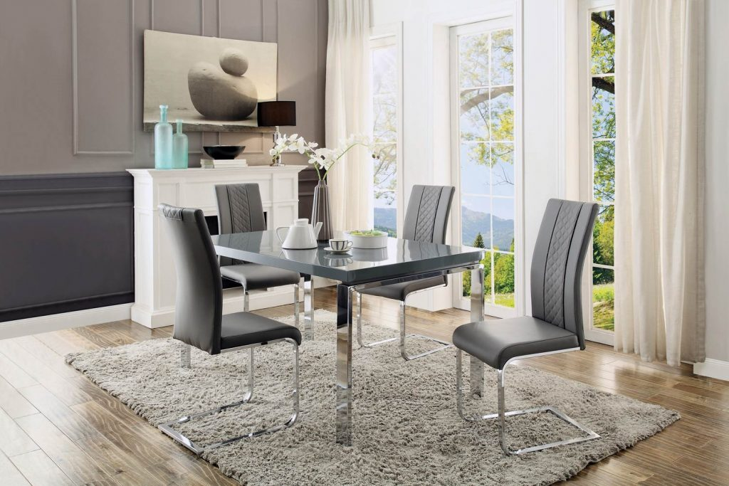 Home Elegance Miami 5pc Dining Room Set The Classy Home