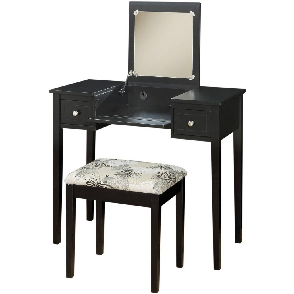 Home Styles Naples Vanity Table And Mirror White Walmart
