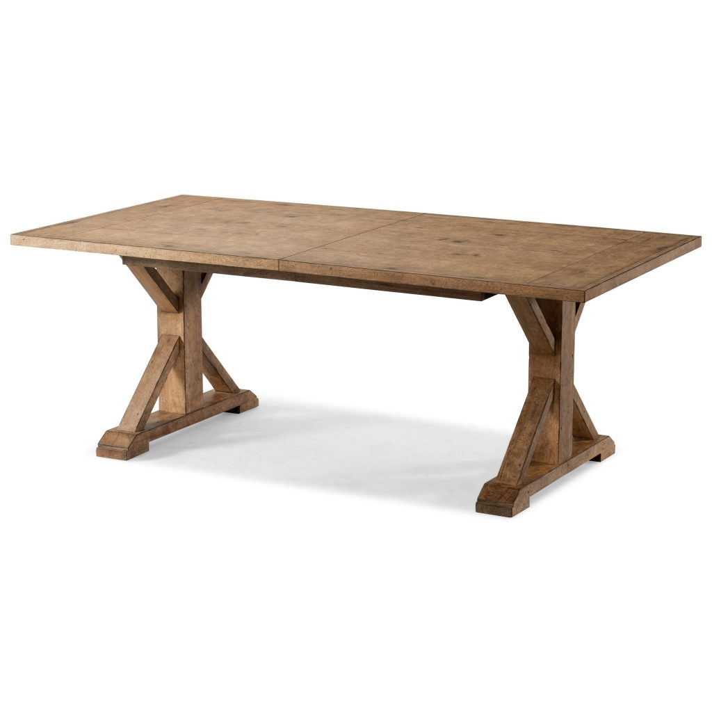Homecoming Dining Trestle Table With One Table Leaf Trisha