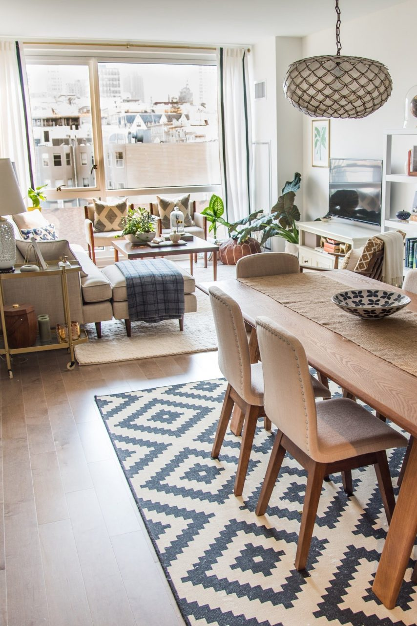 House Tour A Sophisticated Mixed Matched Rental Small Spaces