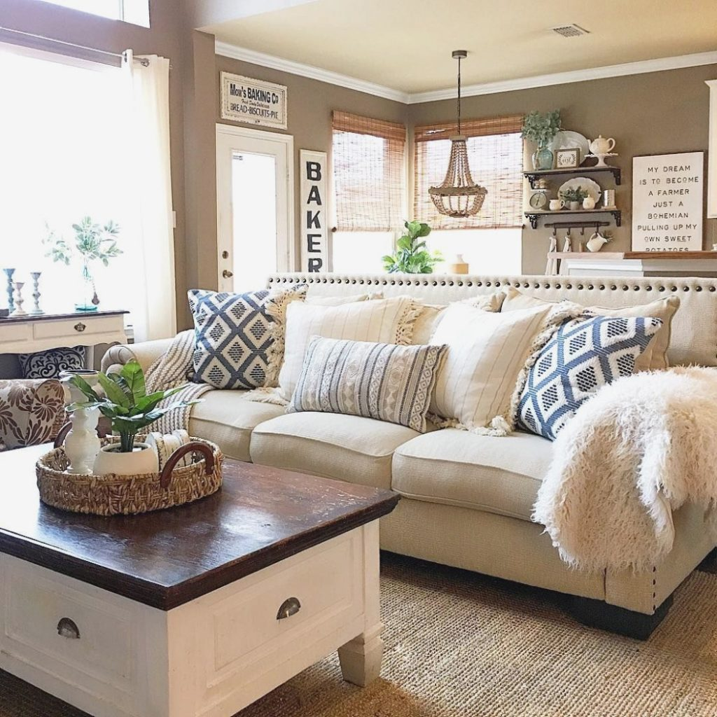 How To Make A Room Look Warmer Farmhouse Living Room Ideas Cozy
