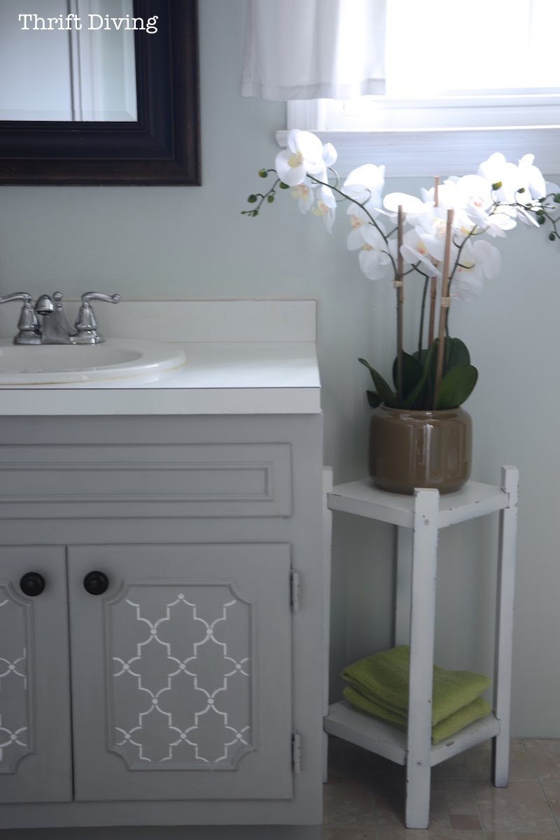 How To Paint A Bathroom Vanity Diy Makeover Thrift Diving Blog