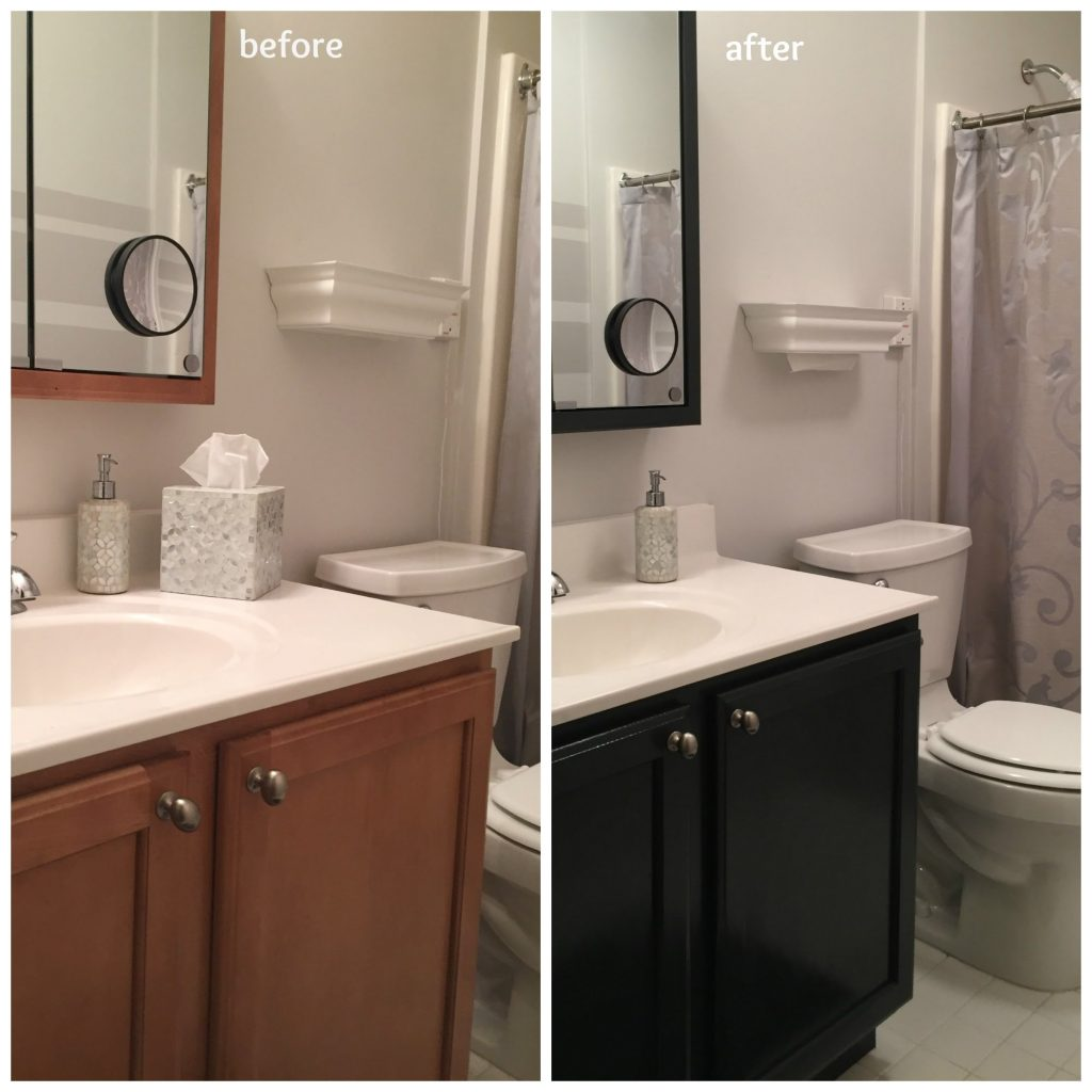 How To Update The Color Of Your Bathroom Vanity Cabinet Youtube