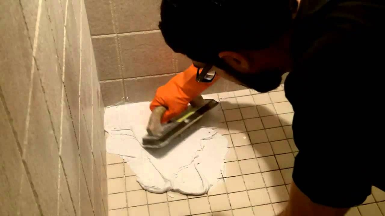 How To Use Shower Epoxy Grout Home Repair Tutor Youtube Layjao