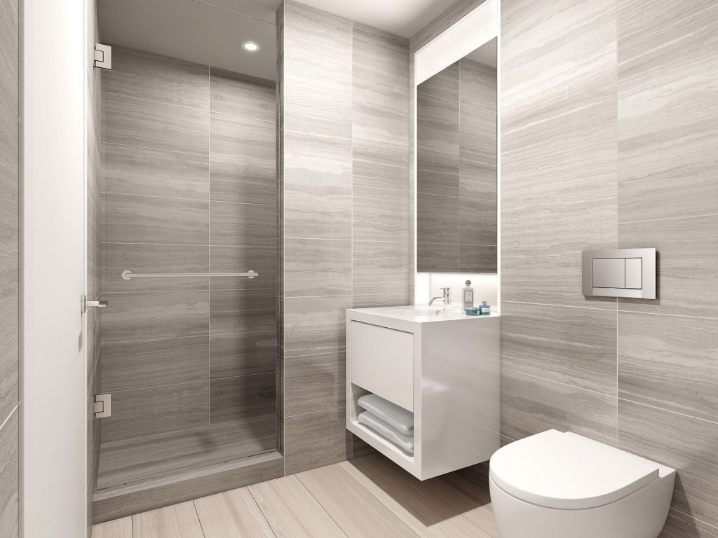 Ideas Collection Modern White Bathroom With Glass Casing Shower