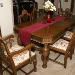 Immediately Antique Kitchen Table And Chairs Vintage Dining Room Old