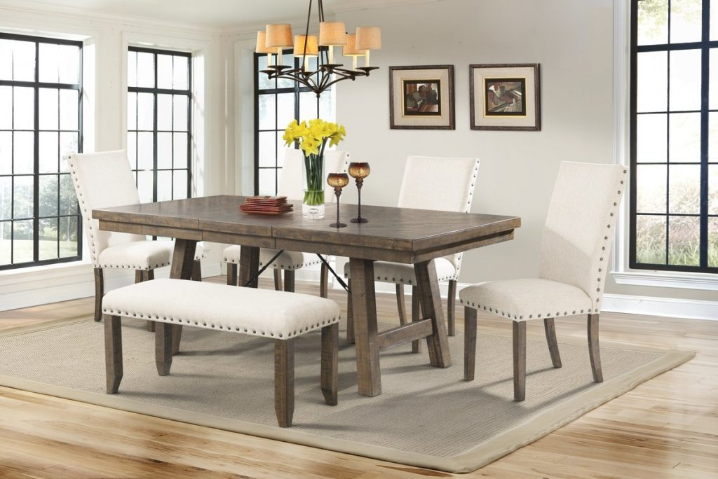 Interior Dearing 6 Piece Dining Set Nice Room Table And Bench 3