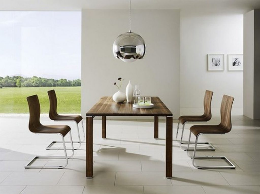 Interior Keeping It Simple With Minimalist Dining Room Design White