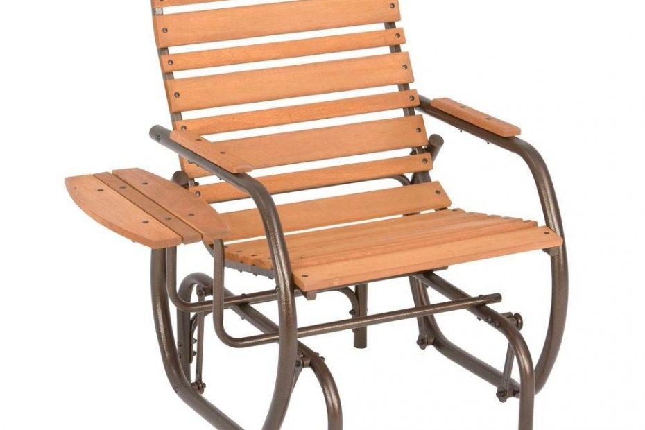 Jack Post Country Garden Natural Patio Glider Chair With Trays Cg