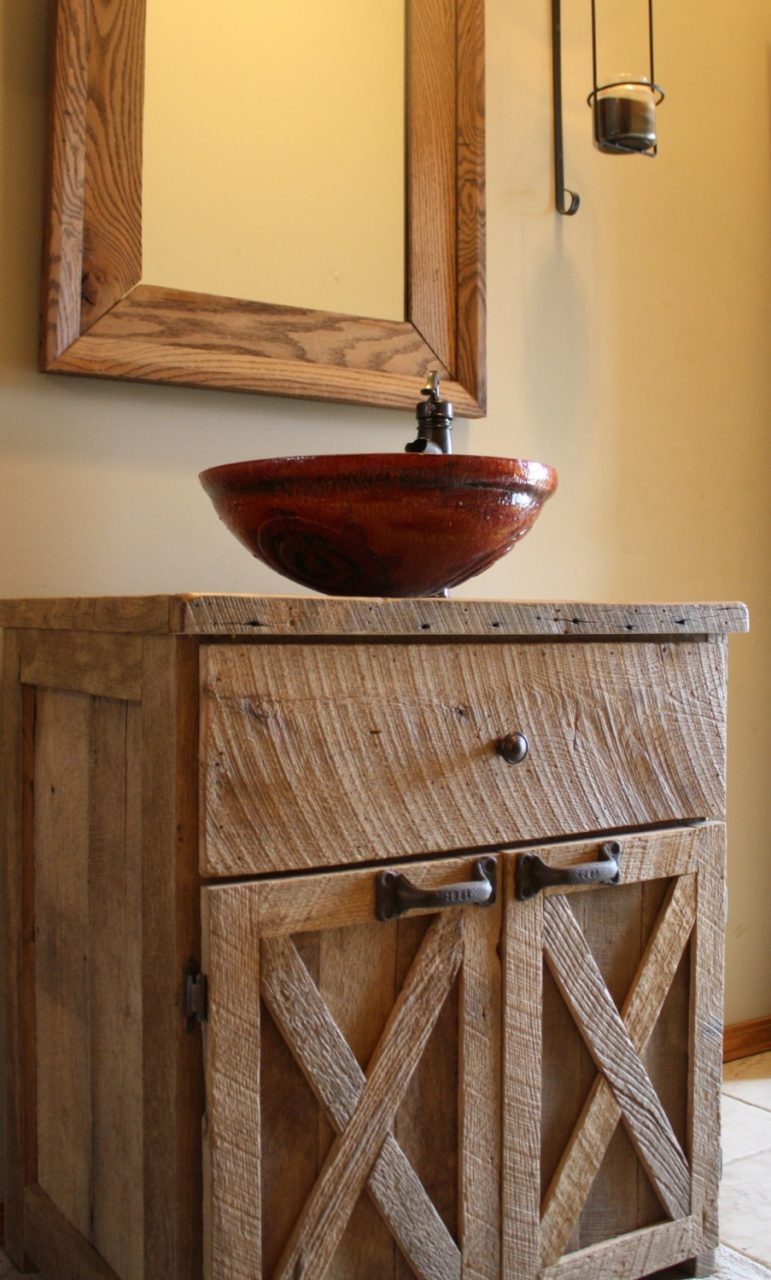 Kandices First Of 2 Listings For Custom Rustic Barn Wood Vanity Or