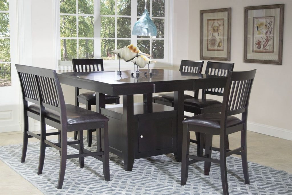 Kaylee Espresso Counter Table Dining Tables Dining Room Mor