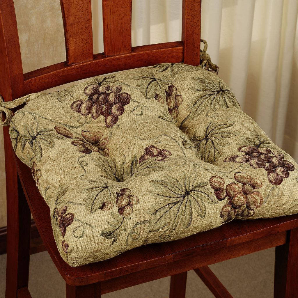 Kitchen Chair Cushions With Ties Homesfeed Designer Chair Cushions
