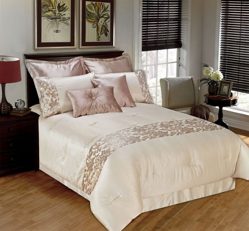Kylie 8 Piece Queen Comforter Set The Brick