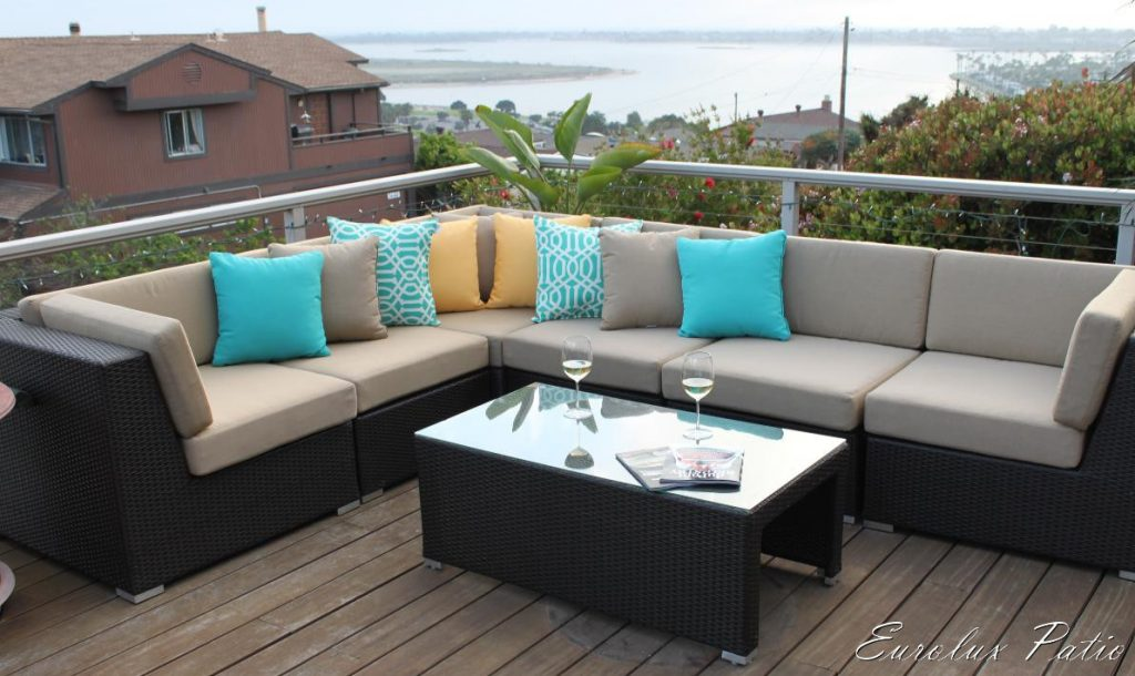 Lane Luxor Wicker Sectional Alluring Outdoor Patio Furniture
