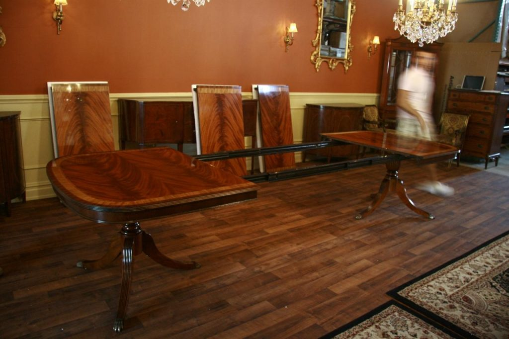 Large High End Mahogany Dining Table Seats 12 14 Inside Tables