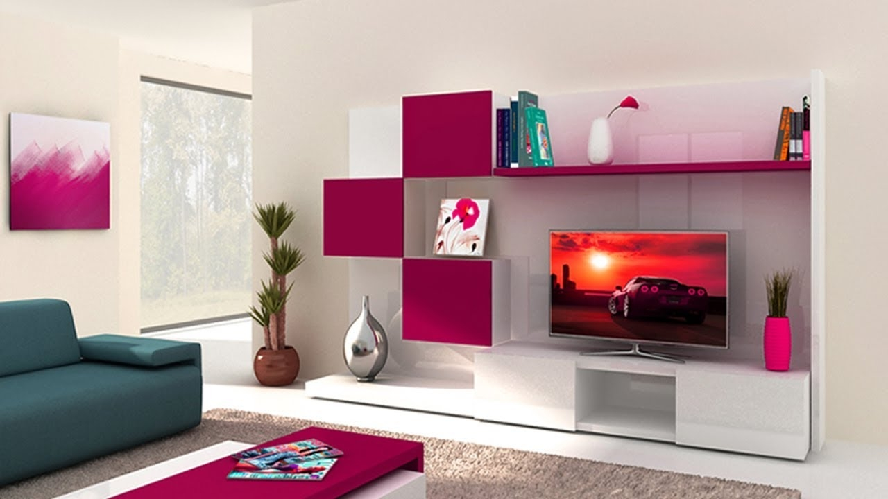 Latest Modern Design Lcd Tv Wall Units Ideas Living Room Wall Layjao