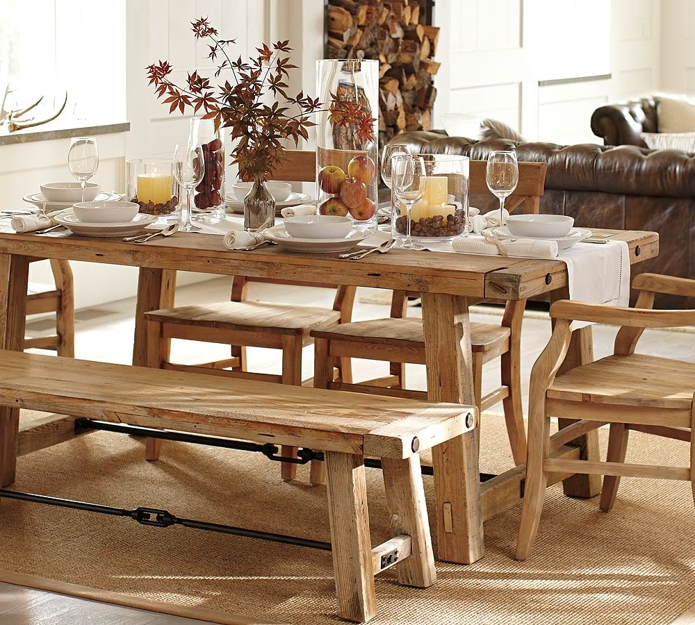 Light Wood Farm Table Farm Table Dining Room Chairs Farmhouse Dining