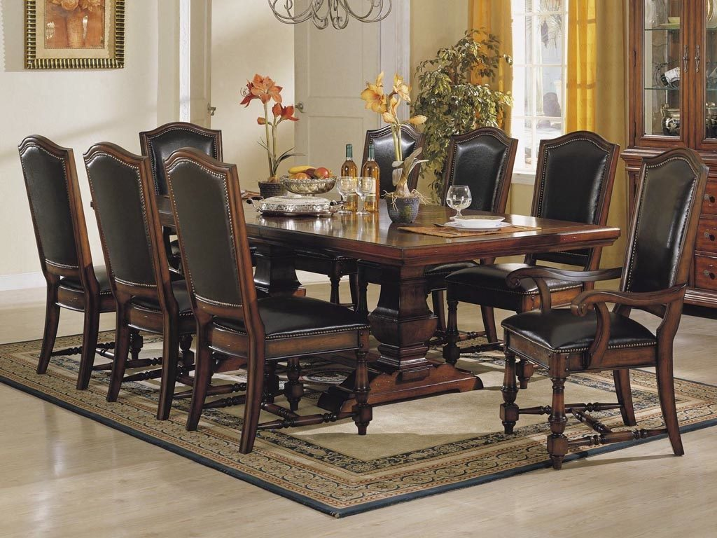Likeable Beautiful Dining Room Table Leather Chairs 37 For At And