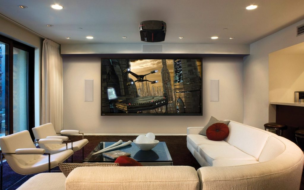 Living Room Captivating Home Theater For Modern Living Room Design