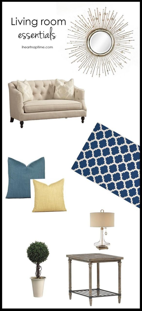 Living Room Essentials A Great Couch Large Area Rug Wall Decor