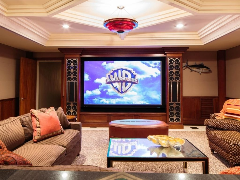 Living Room Theater Home Maximize Ideas