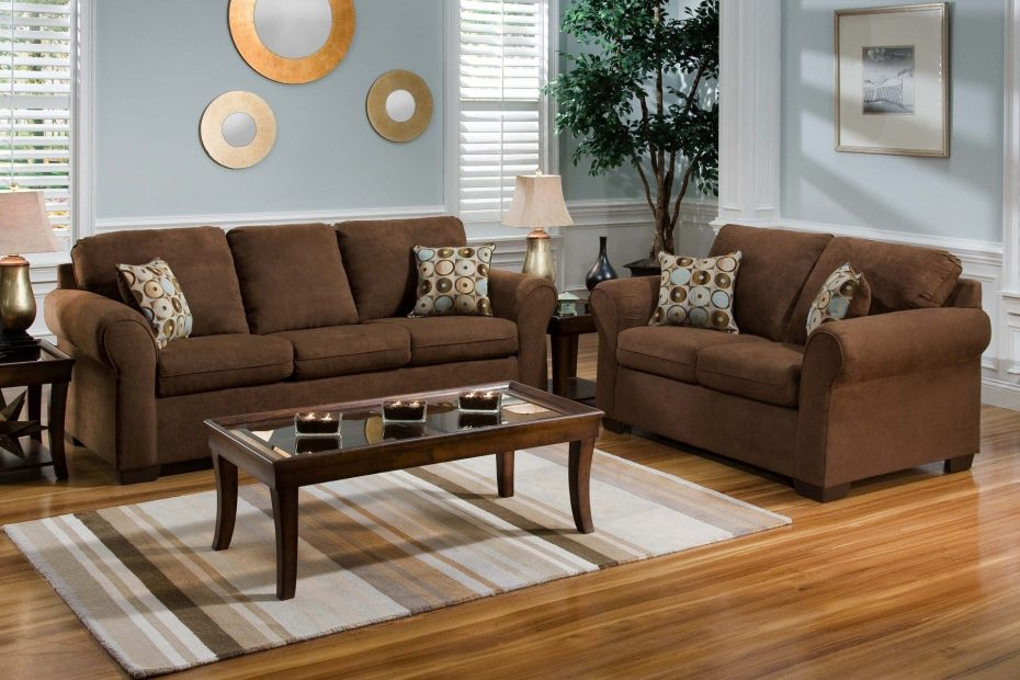 Living Room Ideas Chocolate Brown Couch Layjao