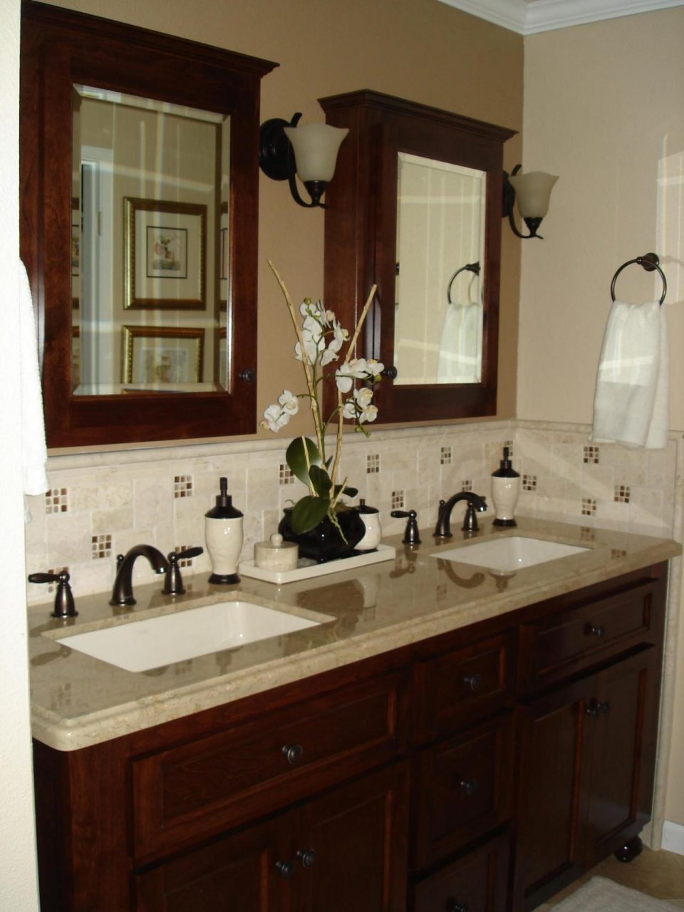 Lovely Sink Backsplash Ideas 10 Bathroom Pedestal With Tile