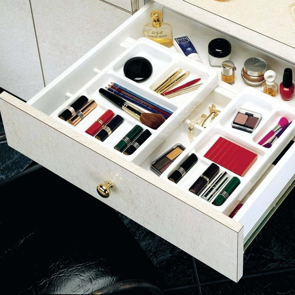 Makeup Drawer Organizer Rev A Shelf Cos And Series Rolling Cosmetic