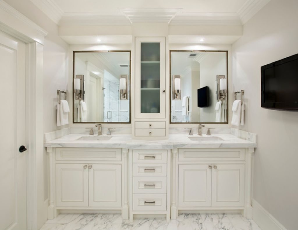 Master Bathroom Vanity With Tower Vanities Storage Towers Cabinets