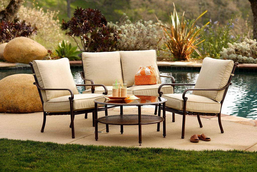 Metal Patio Furniture Sets For Outdoor Small Spaces Eva Furniture