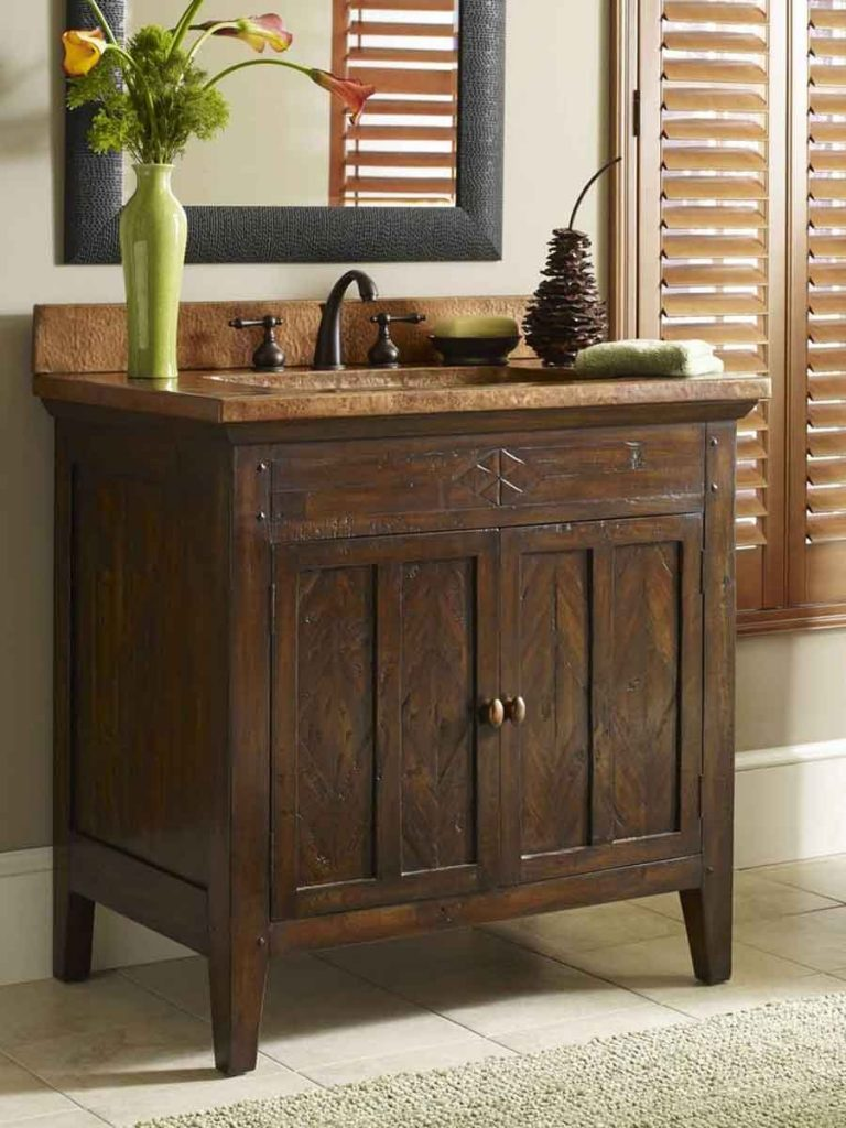 Miraculous In Bathroom Vanities Rustic Look Picture Ideas 2018