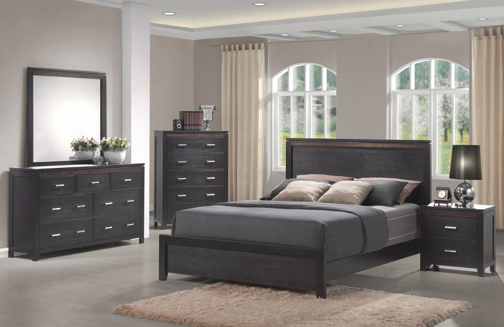 Modern Bedroom Collection Queen Bed Frame Las Vegas 7 Pc Bedroom Set