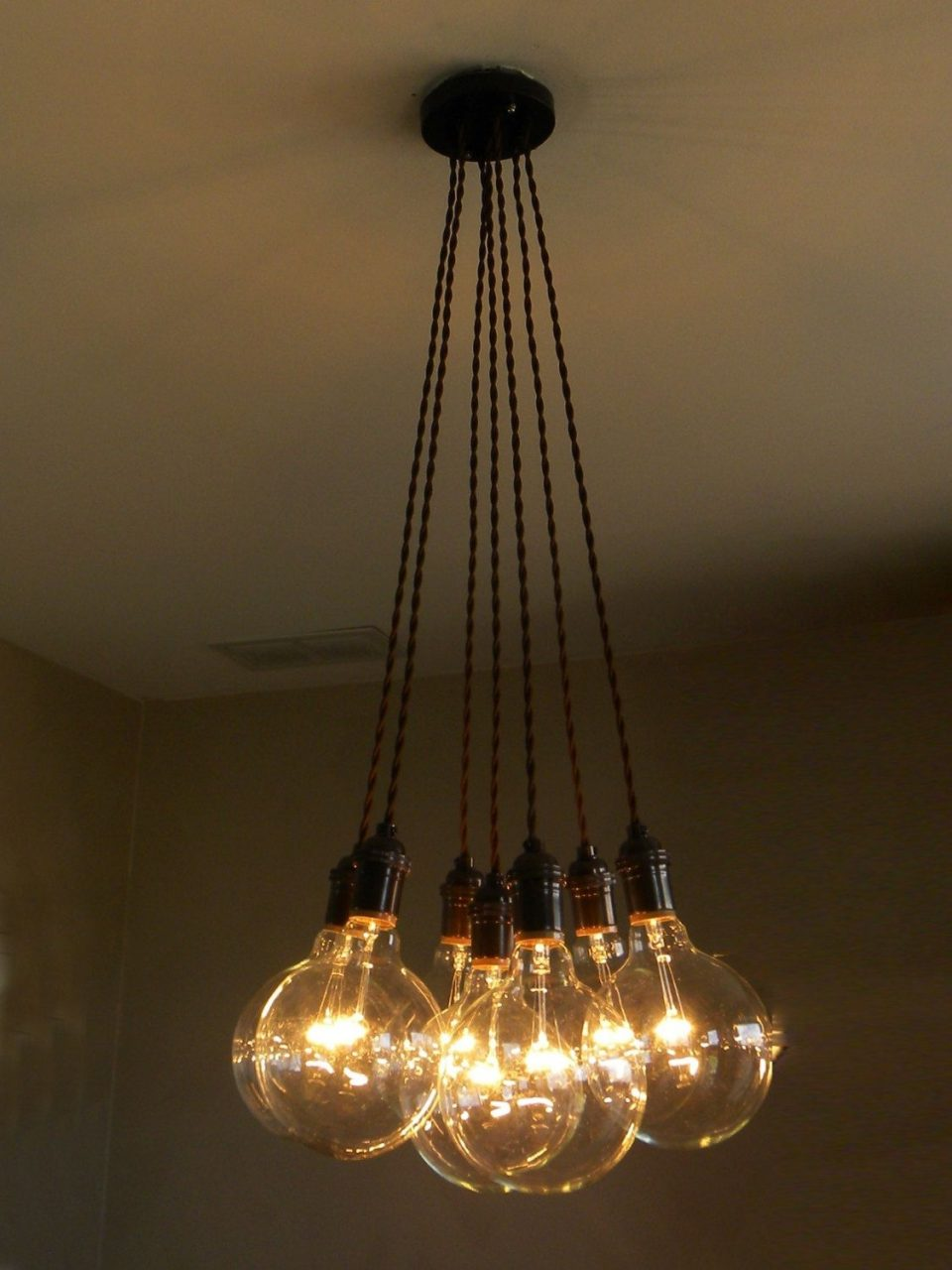 Modern Dining Chandelier 7 Light Cluster Pendant Modern Dining Room