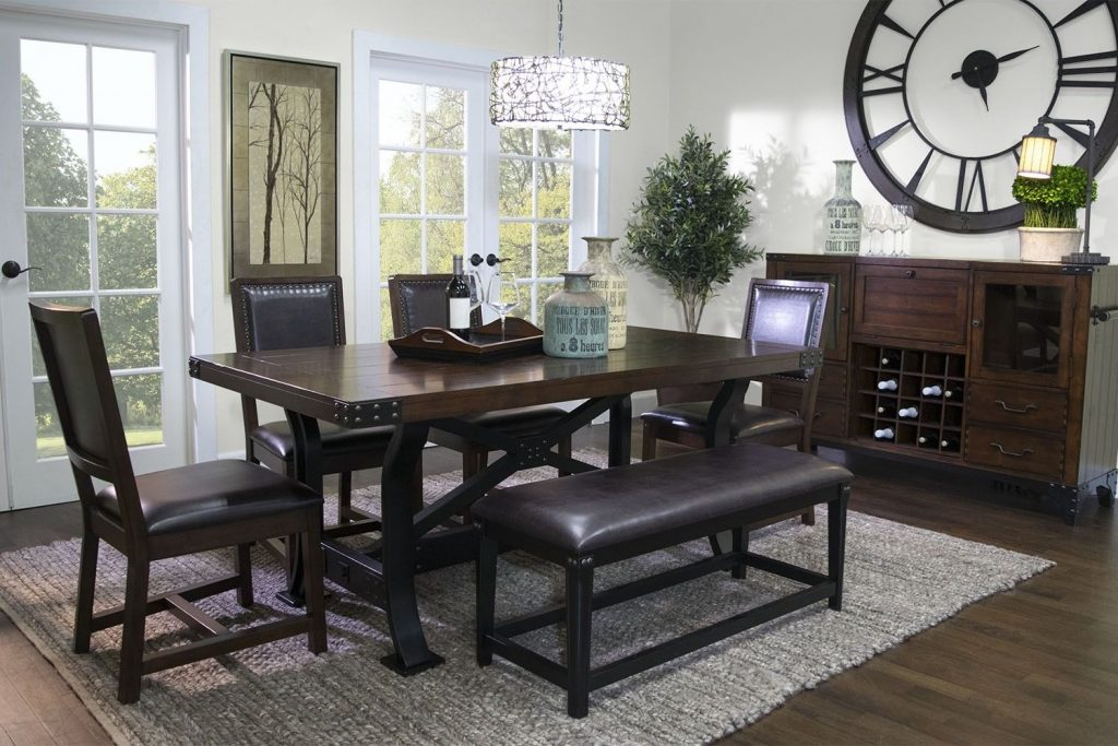 Mor Furniture For Less The Iron Works Dining Room Mor Furniture