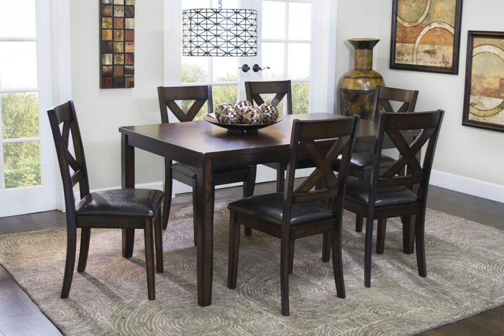 Mor Furniture For Less The Palm Springs Table With 6 Chairs Mor