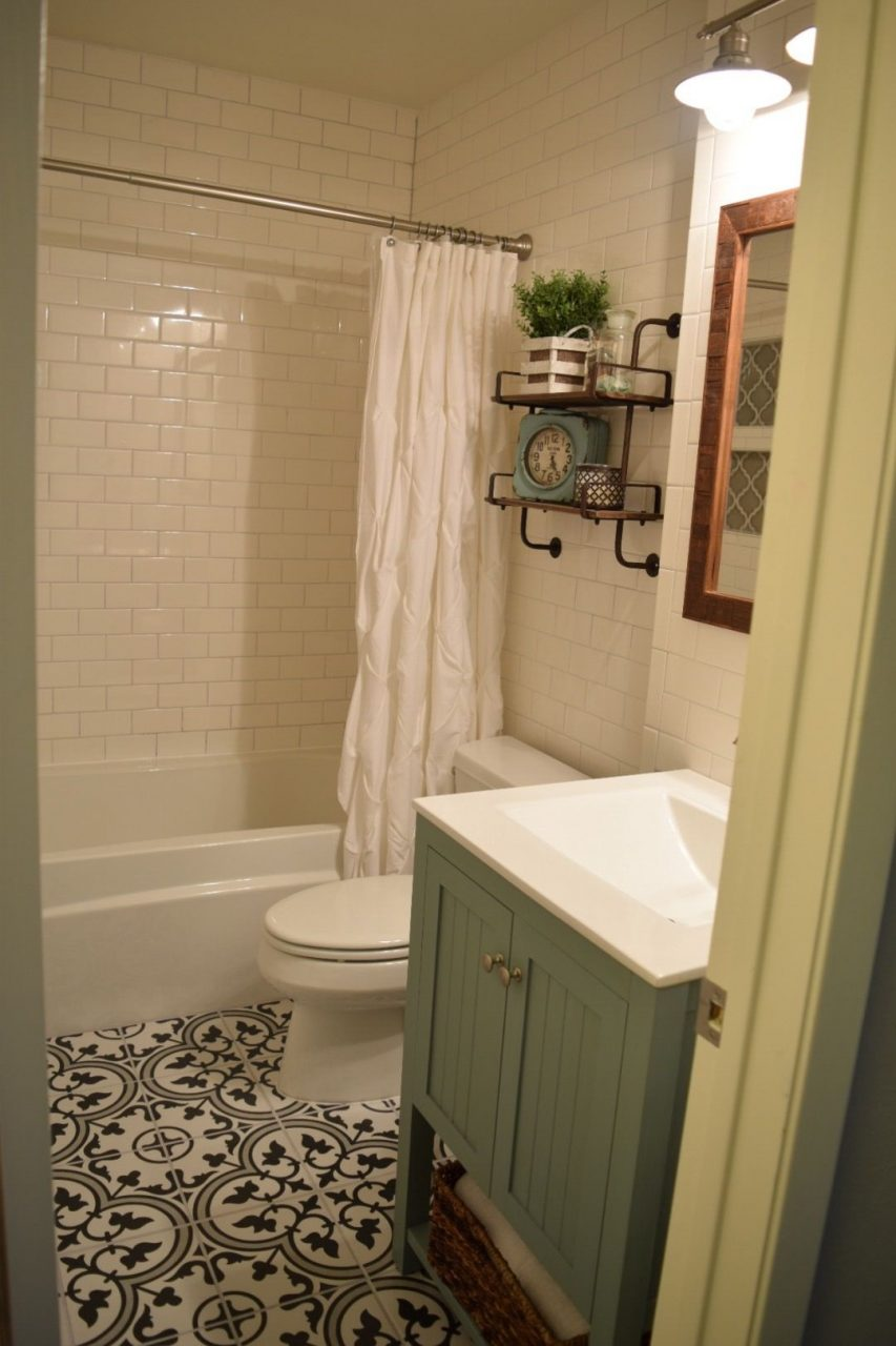 Our Small Bathroom Remodel Subway Tile Walls Merola Tile Arte Gray