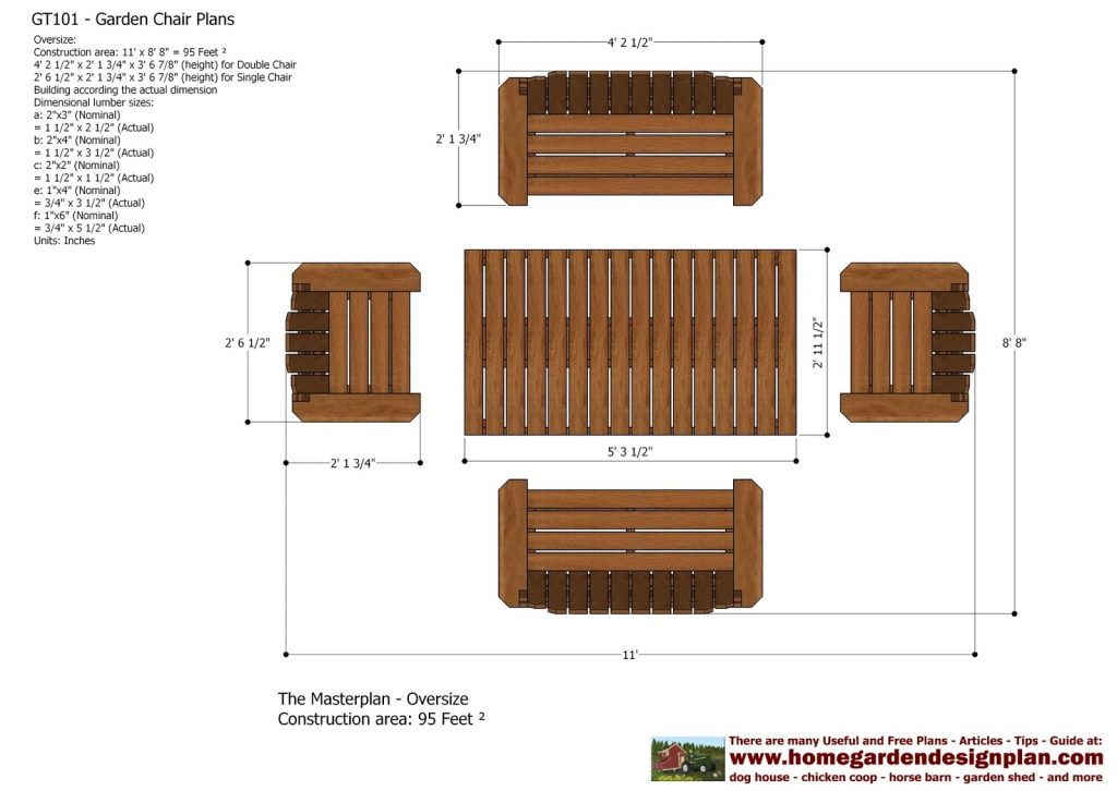 Outdoor Furniture Diagrams And Plans Diy Woodworking