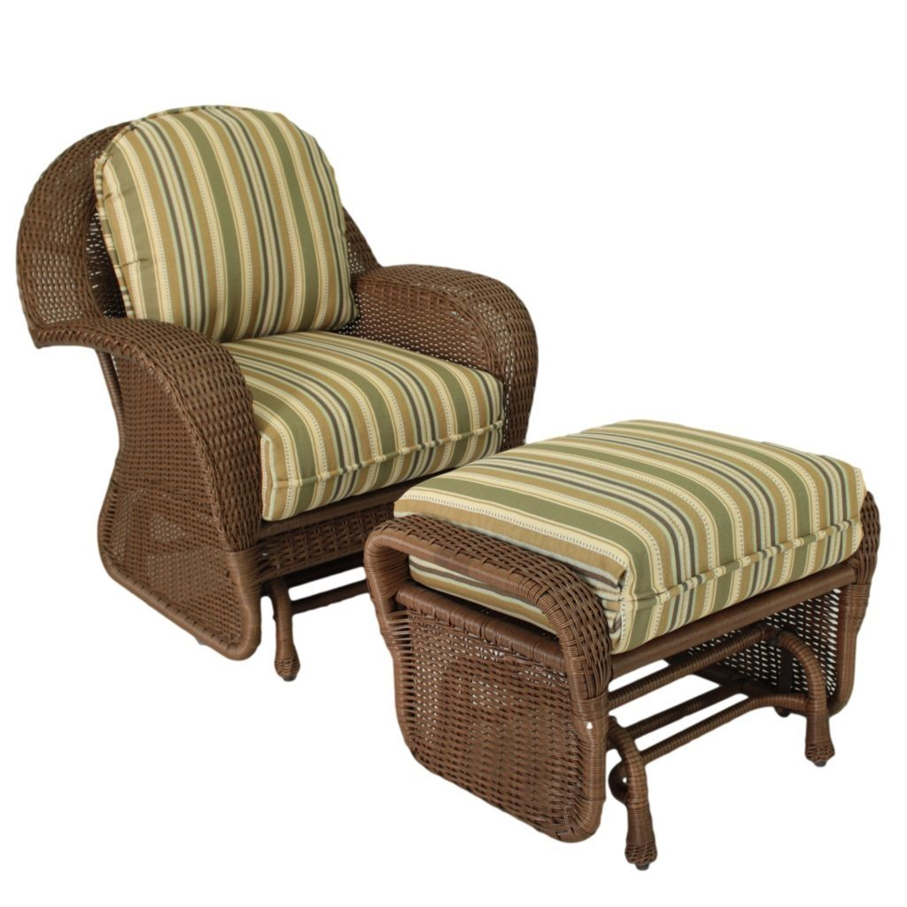 Outdoor Glider Chair Wicker Random 2 Patio Furniture Glider