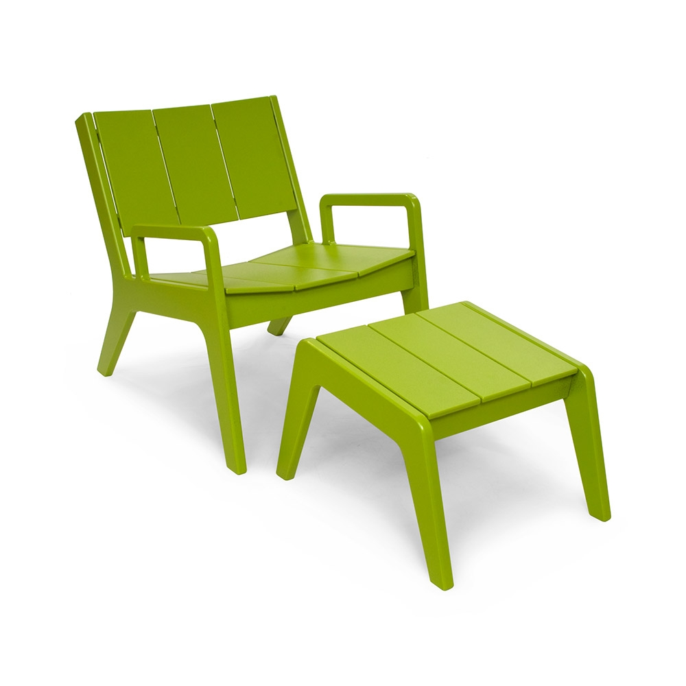 Outdoor Lounge Chair Made From Recycled Plastic Loll Designs