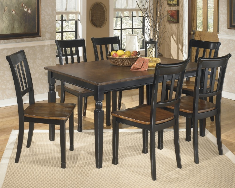 Owingsville Rectangular Dining Room Table 6 Side Chairs D58002