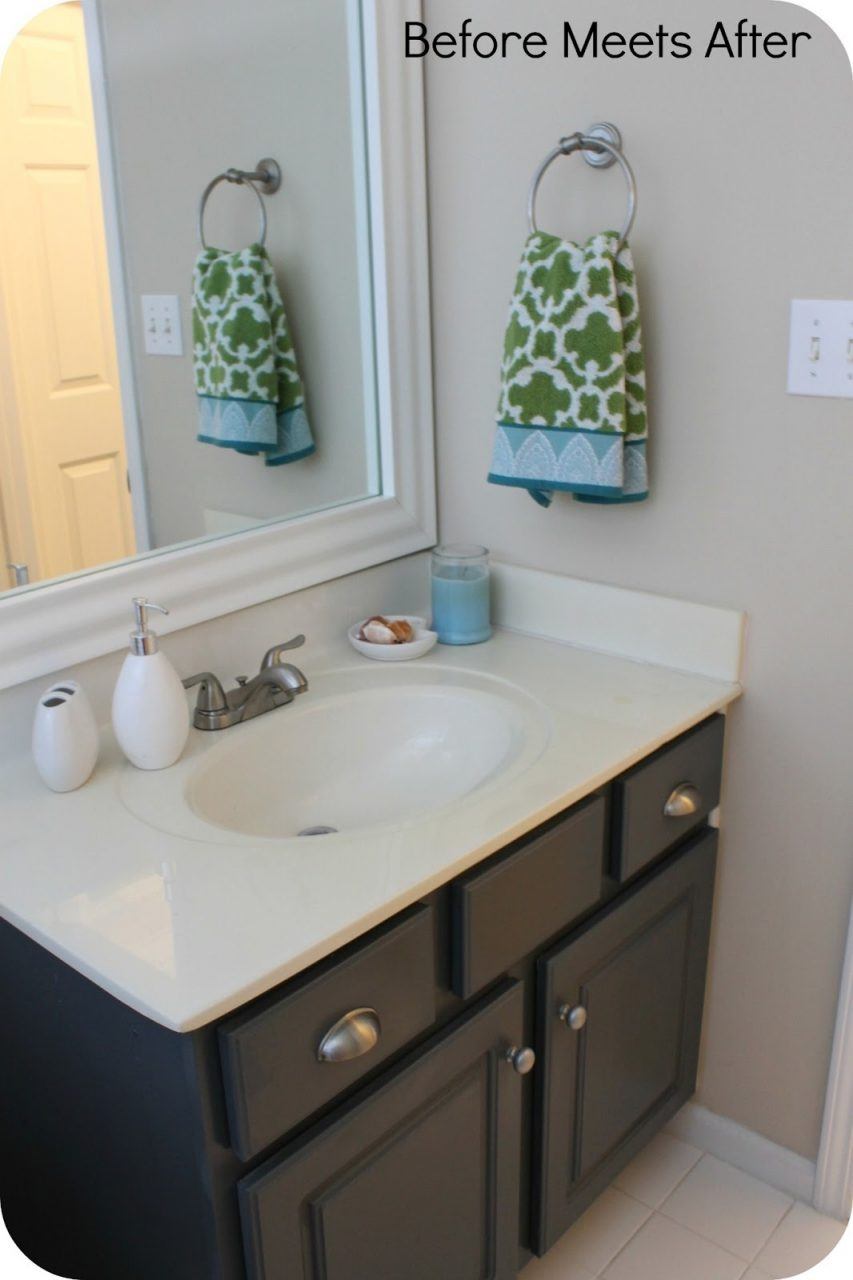 Painted Bathroom Vanity Amazing With Additional Home Decoration